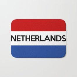netherlands country flag name text Bath Mat