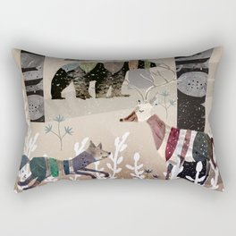 Forest in Sweater Rectangular Pillow