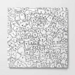Dog Doodle Art Metal Print