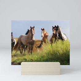 The Wild Bunch-Horses Mini Art Print