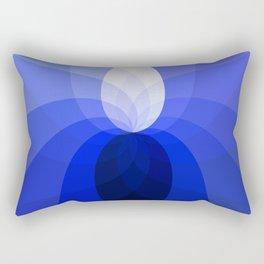 Monochromatic Blue Rectangular Pillow