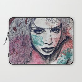 No Hope In Sight: Purple (tattoo girl portrait) Laptop Sleeve