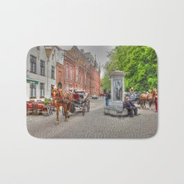 Horse & Cart in Brugge  Bath Mat