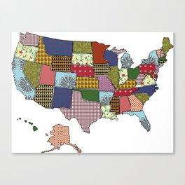 USA Patchwork Canvas Print