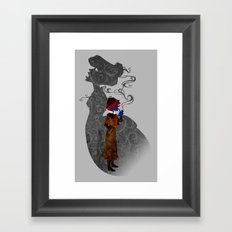 Consulting Detective Darkholme (Sherlock - Victorian - Steampunk - Mystique) Framed Art Print