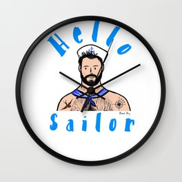 Beard Boy: Hello Sailor Wall Clock