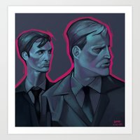 true detective Art Prints featuring True Detective  by Brad Collins Art & Illustration