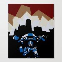 robocop Canvas Prints featuring RoboCop by iankingart