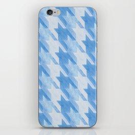 Blue Monochrome Houndstooths iPhone Skin