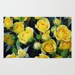 Bright Yellow Roses Rug