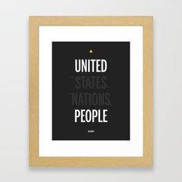 UP - United People Framed Art Print