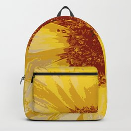 Beautiful Yellow Marigold Vector Isolated Backpack