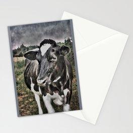 Melancholic Black White Dutch Cow Stationery Cards
