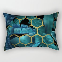 tropical banana leaves geometry Rectangular Pillow