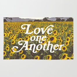 Love One Another Sunflowers Rug