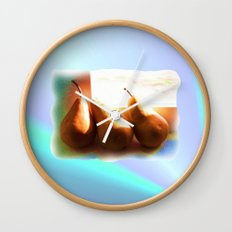 Three Pears Wall Clock