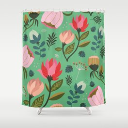 Pretty Florals Shower Curtain