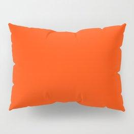 Coquelicot - solid color Pillow Sham