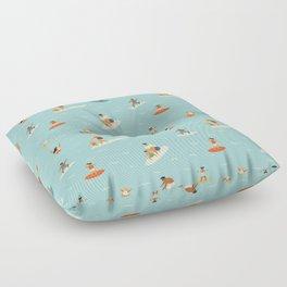 Surfing kids Floor Pillow