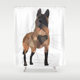 Belgian Malinois Shower Curtain