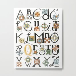 The ABC's of Quilting Metal Print