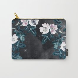 Night Garden Bees Wild Blackberry Carry-All Pouch