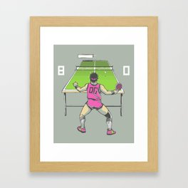 The Ping Pong Championships of '82 Framed Art Print