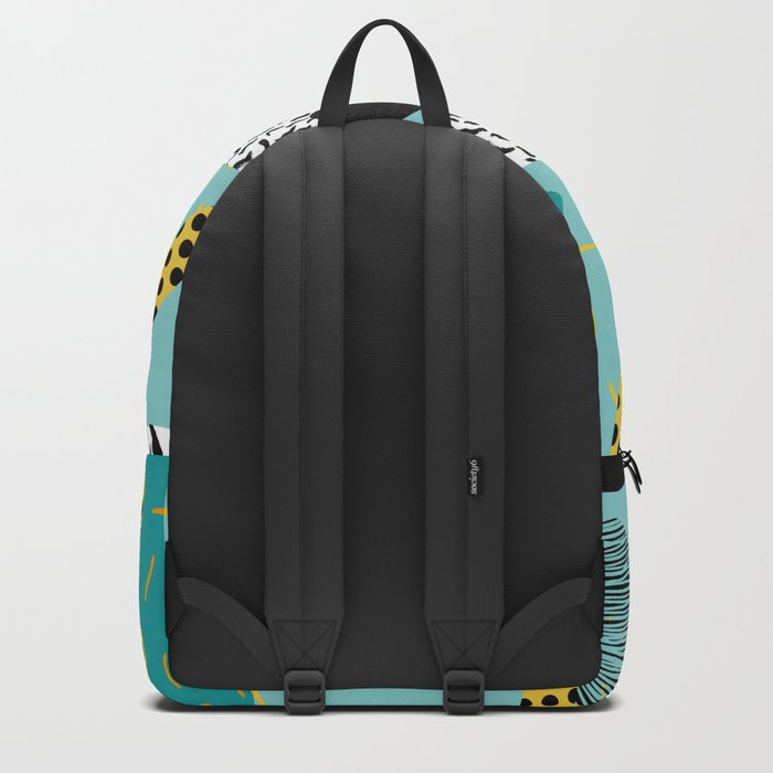 Boss - abstract 80s style memphis vibes patterns 1980's retro minimal throwback decor Backpack