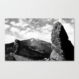 Teide in black Canvas Print
