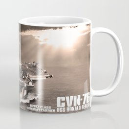Aircraft carrier Ronald Reagan Coffee Mug