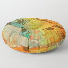 Cave Dwelling Native American Floor Pillow