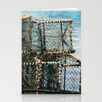 south africa Stationery Cards featuring Lobster Crates South Africa by NinjaGlue