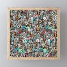 Gemstone Cats Framed Mini Art Print