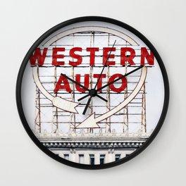 Western Auto Vintage Neon Sign Wall Clock