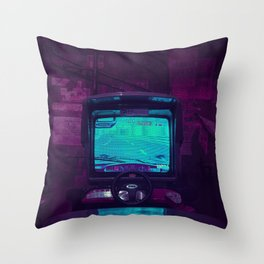 Tokyo Nights / Retro Arcade / Liam Wong Throw Pillow