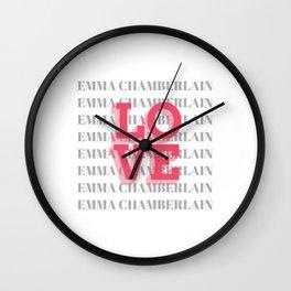 Ladies' Emma Chamberlain Youtube Vlogger Wall Clock