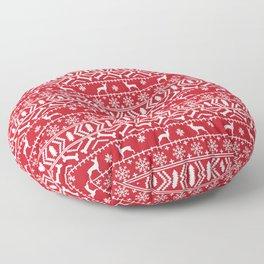 Min Pin fair isle christmas holiday miniature doberman pinscher gifts Floor Pillow