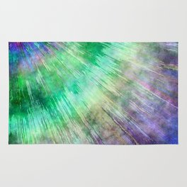 Tie Dye Watercolor Abstract Rug