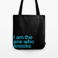 breaking bad Tote Bags featuring Breaking Bad by tycejones