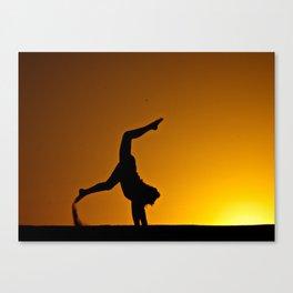 Desert Silouette Canvas Print
