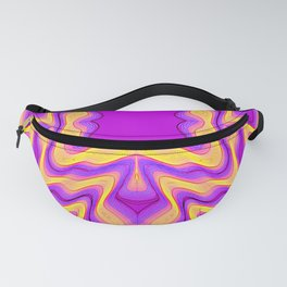yellow purple Fanny Pack