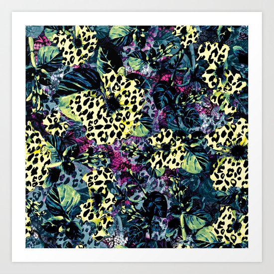 Golden Flowers II Art Print