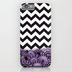 Purple Flower Chevron iPhone 6s Slim Case