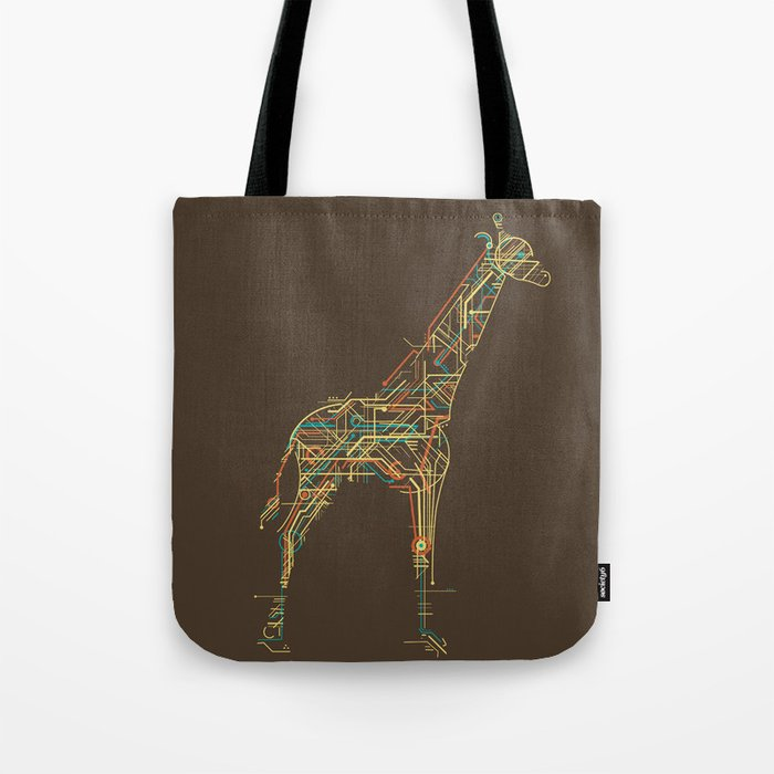 Electric Giraffe Tote Bag