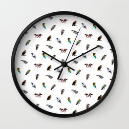 the living bird is not its labeled bones Wall Clock