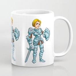 Warrior Princess With Battle sword and Shield Coffee Mug