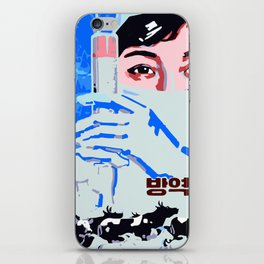 preventive veterinarian system north Korean propaganda iPhone Skin