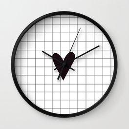 Small little black heart Wall Clock