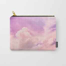 Pink And Purple Fluffy Colorful Clouds Cotton Candy Texture Carry-All Pouch