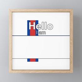 Hello I am from Faroe Islands Framed Mini Art Print